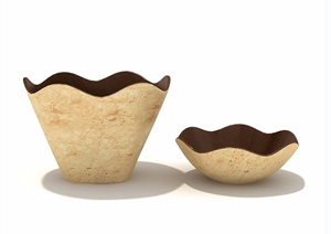 五种种餐具详细素材设计3d模型及效果图