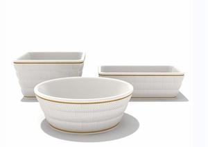 餐具详细素材设计3d模型及效果图