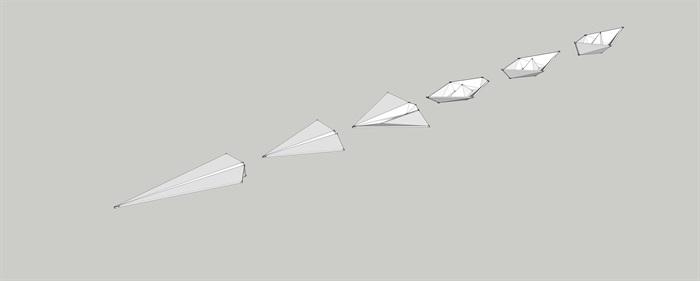 紙船紙飛機演變組合SU模型(1)