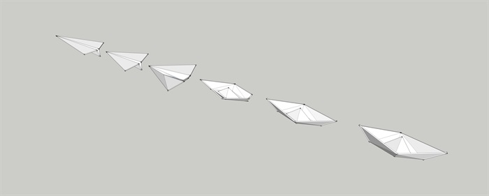 紙船紙飛機演變組合SU模型(2)
