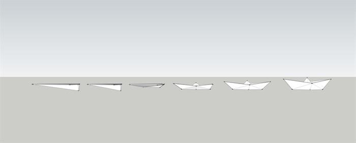 紙船紙飛機演變組合SU模型(3)