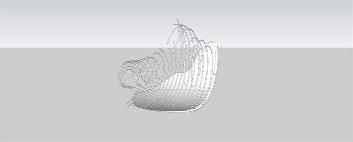 抽象景觀雕塑小品SU模型(2)