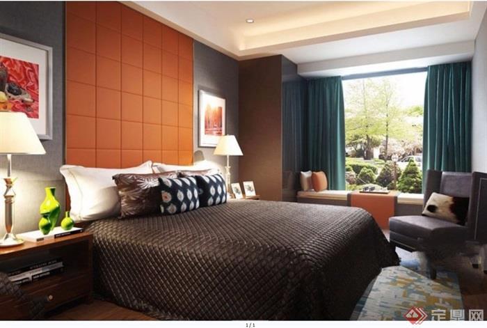 完整的的室内卧室空间装饰设计3d模型及效果图