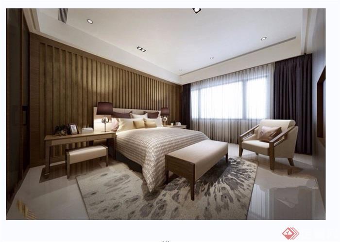 獨特詳細的室內臥室空間裝飾設計3d模型及效果圖