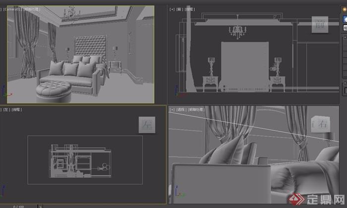 整体详细室内卧室空间装饰设计3d模型及效果图