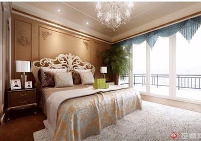 欧式整体详细的室内卧室空间装饰设计3d模型及效果图