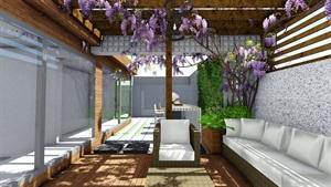 某屋顶花园景观设计su模型