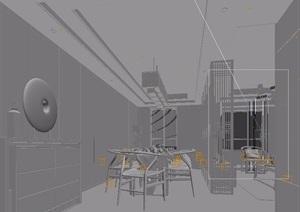 现代中式客厅沙发组合3d模型