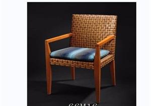 东南亚风格家具椅子素材3d模型及效果图