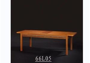 东南亚风格木质桌子素材3d模型及效果图