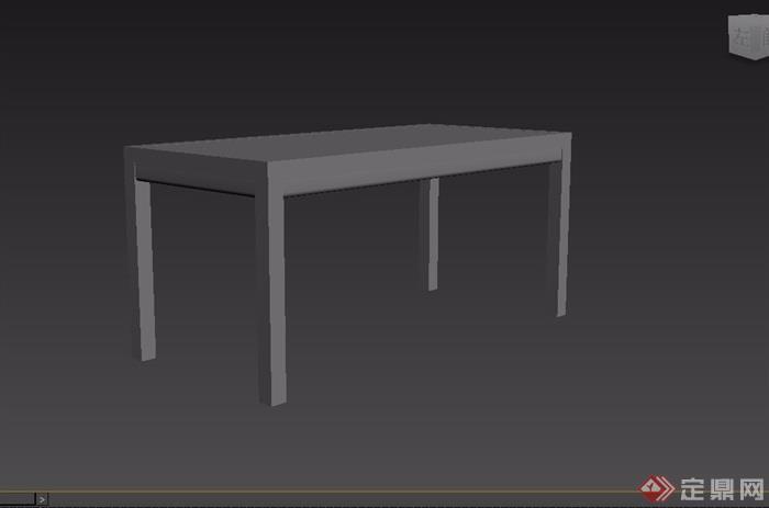 东南亚风格木质餐桌素材3d模型及效果图