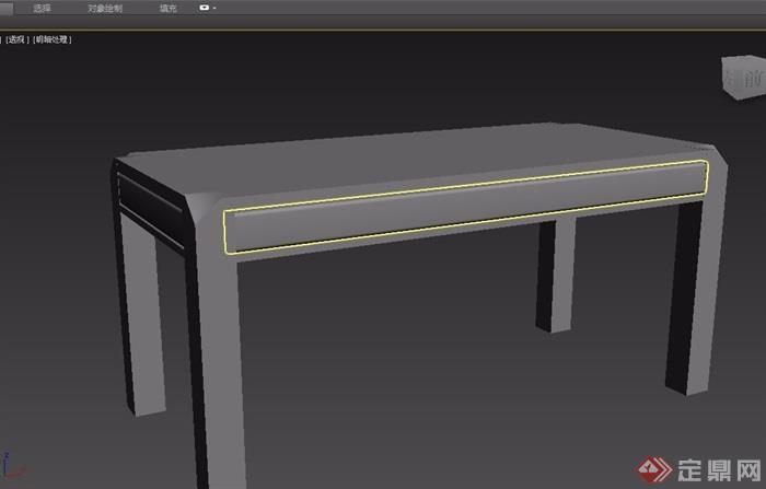 东南亚风格木桌3d模型及效果图