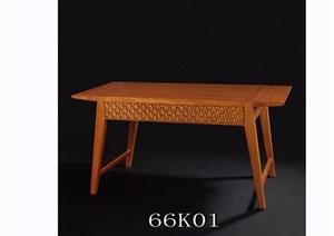 东南亚风格室内木质桌子素材3d模型及效果图