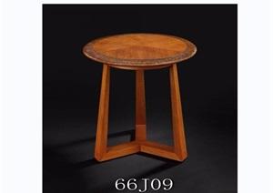 东南亚风格圆桌素材3d模型及效果图