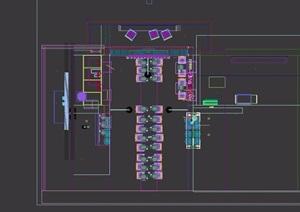 loft工业风格餐厅装饰3d模型