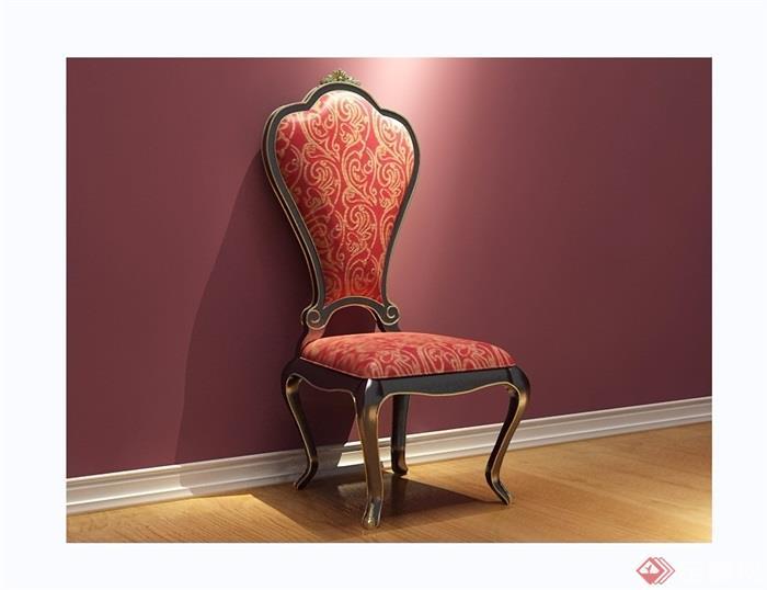 欧式沙发椅子素材详细3d模型及效果图