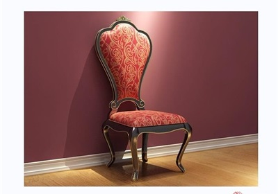 歐式沙發椅子素材詳細3d模型及效果圖