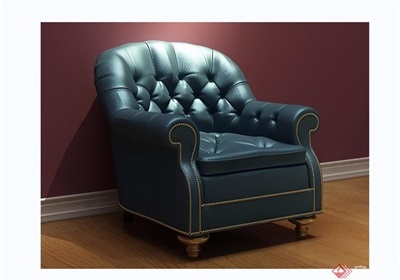 歐式皮革沙發椅子素材詳細3d模型及效果圖