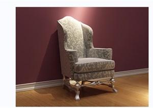 欧式沙发椅子详细3d模型及效果图