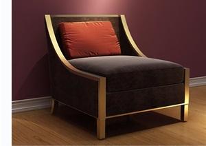 歐式室內沙發椅素材詳細3d模型及效果圖