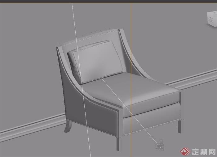 欧式室内沙发椅素材详细3d模型及效果图