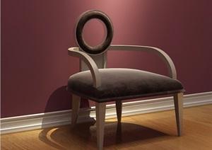 歐式沙發椅子詳細設計3d模型及效果圖