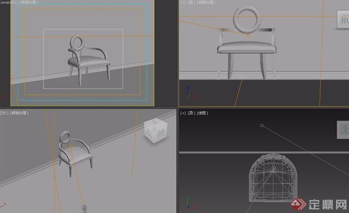 欧式沙发椅子详细设计3d模型及效果图