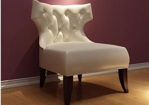 歐式沙發椅子詳細素材設計3d模型及效果圖