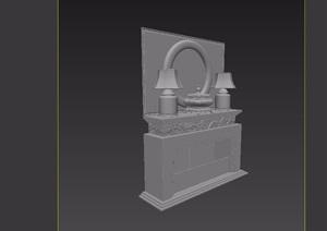 壁炉装饰素材设计3d模型