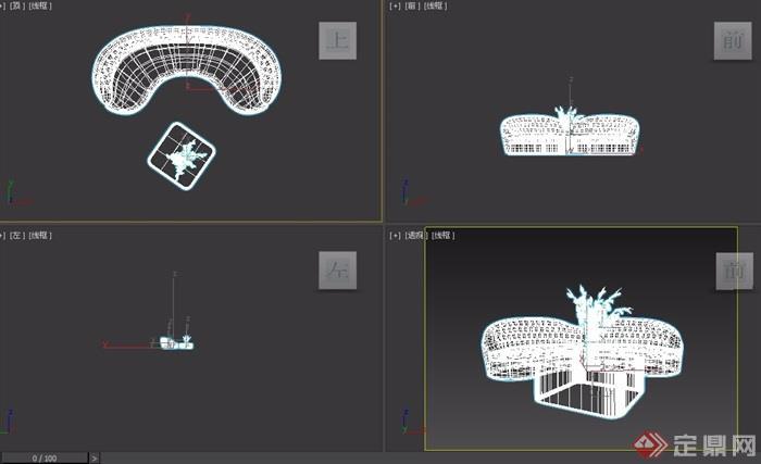 室内详细的沙发茶几组合设计3d模型