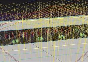 现代loft工业风格餐厅装饰设计3d模型