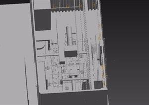 loft工业风格餐厅装饰素材3d模型