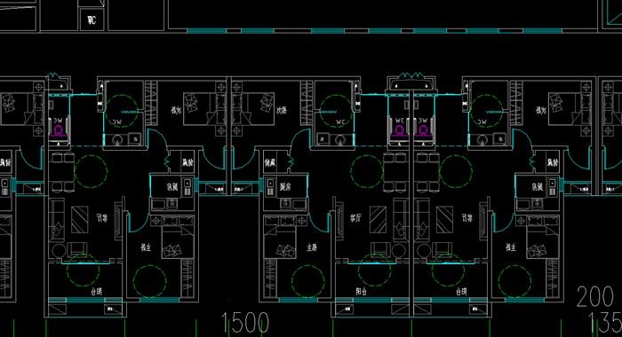 老年公寓疗养院cad及草图唐式风格(3)