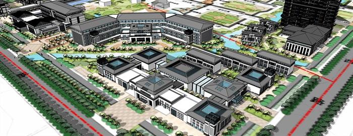 老年公寓疗养院cad及草图唐式风格(4)