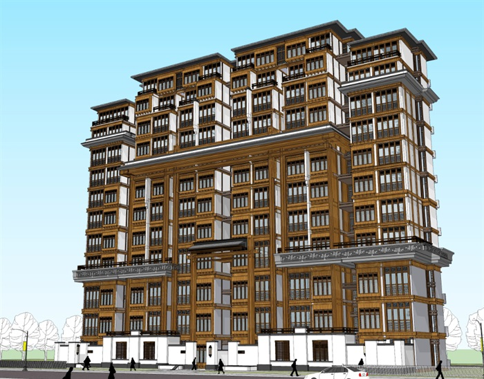 老年公寓疗养院cad及草图唐式风格(7)