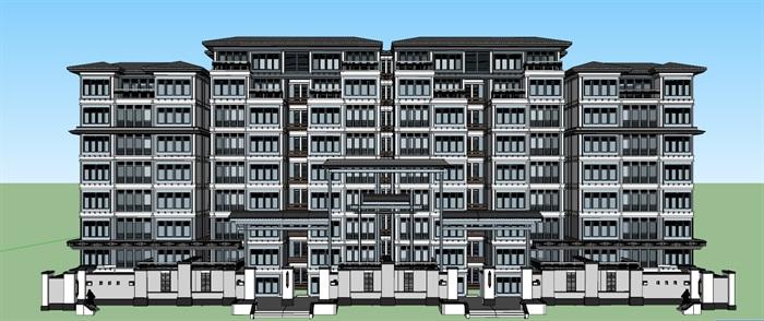 老年公寓疗养院cad及草图唐式风格(8)