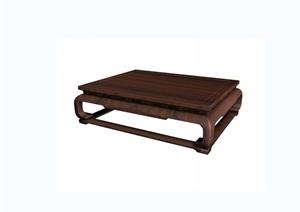 大茶幾桌子完整設計3d模型