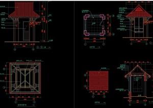 园林景观详细的中式亭子cad施工图