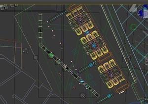 loft工业风格餐厅完整装饰3d模型