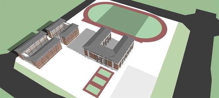 学校精致模型(3)