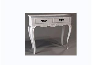 欧式风格详细的抽屉桌素材设计3d模型