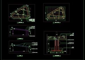 异型异形景观亭钢结构花架廊架施工图详图