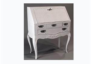 某欧式独特详细的柜子素材设计3d模型