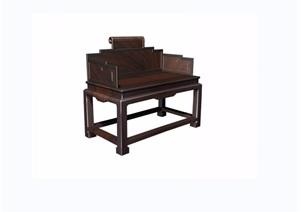 夔凤纹扶手椅详细素材设计3d模型及效果图