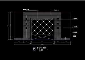电视柜背景墙素材cad施工图