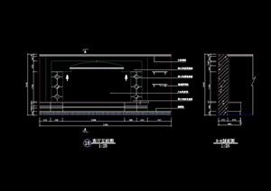 电视柜背景墙详细设计cad立剖面图