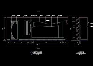 客厅电视柜背景墙设计cad施工图