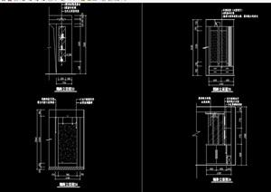 某室内隔断装饰节点cad施工图