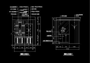 玄关隔断装饰完整素材设计cad施工图