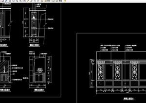 中式玄关隔断装饰节点cad施工图